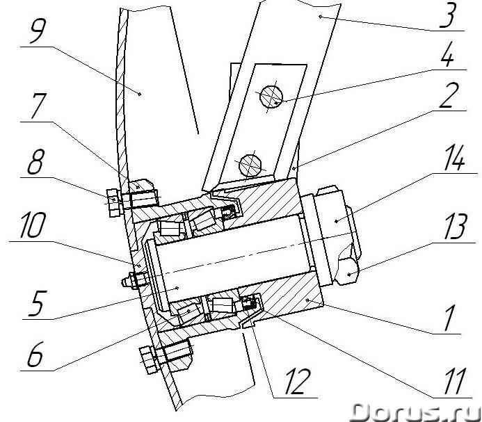 Подшипниковые узлы для дисковых борон - Запчасти и аксессуары - Обслуживаемый подшипниковый узел про..., фото 2